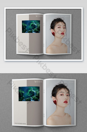 Mẫu mockup tờ rơi tạp chí Bản mẫu PSD