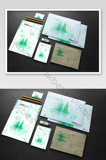 Modèle de maquette de crayon pour carte papier enveloppe Modèle PSD