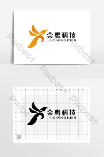 águila dorada, letra k, logotipo, logotipo, vi Modelo CDR
