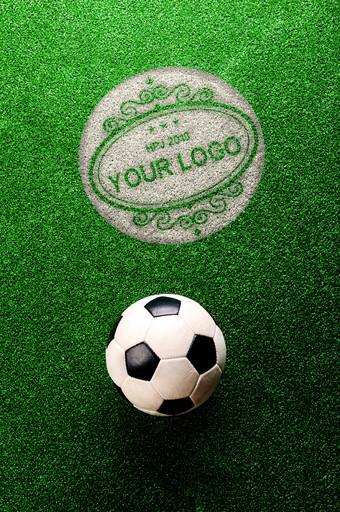 campo de fútbol césped planta verde textura impresión logo maqueta Modelo PSD