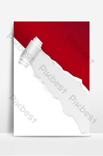mapa de fondo de descuento de promoción de efecto de papel rasgado rojo Fondos Modelo PSD