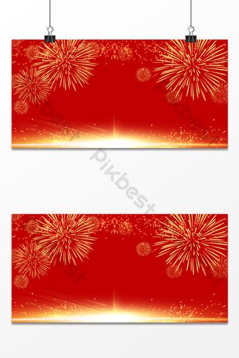 fondo dorado del día nacional de fuegos artificiales rojos Fondos Modelo PSD