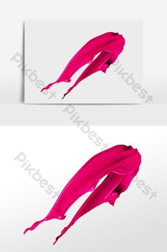 pintado a mano rosa pintura roja pigmento tinta ilustración Elementos graficos Modelo PSD