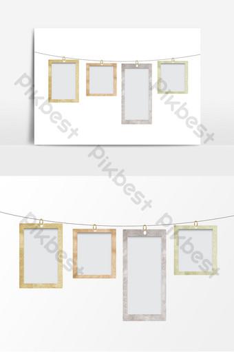 شنق إطار الصورة العلامة جعل العناصر الزخرفية القديمة صور PNG قالب PSD