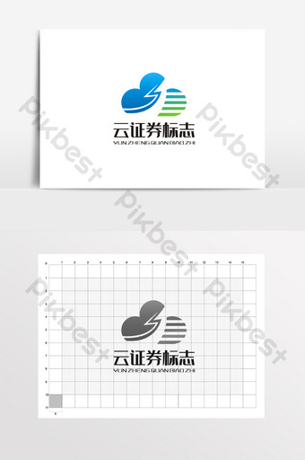 Cloud Investment Securities Financial Finance Logo VI Template CDR