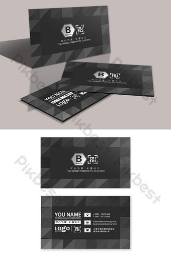 carte de visite architecte de concepteur de publicité géométrique haut de gamme Modèle PSD