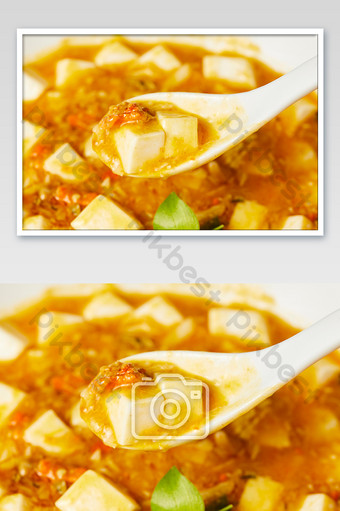 Yellow crab noodles, tofu, paste, beans, seafood, gourmet photography pictures Photo Template JPG
