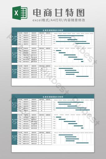 tabel jadwal promosi e commerce, bagan gantt, templat excel Template Excel Templat XLSX