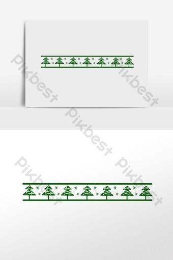 línea divisoria del copo de nieve del árbol de navidad Elementos graficos Modelo PSD