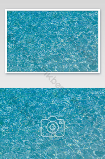Blue sea water splash photography picture Photo Template JPG