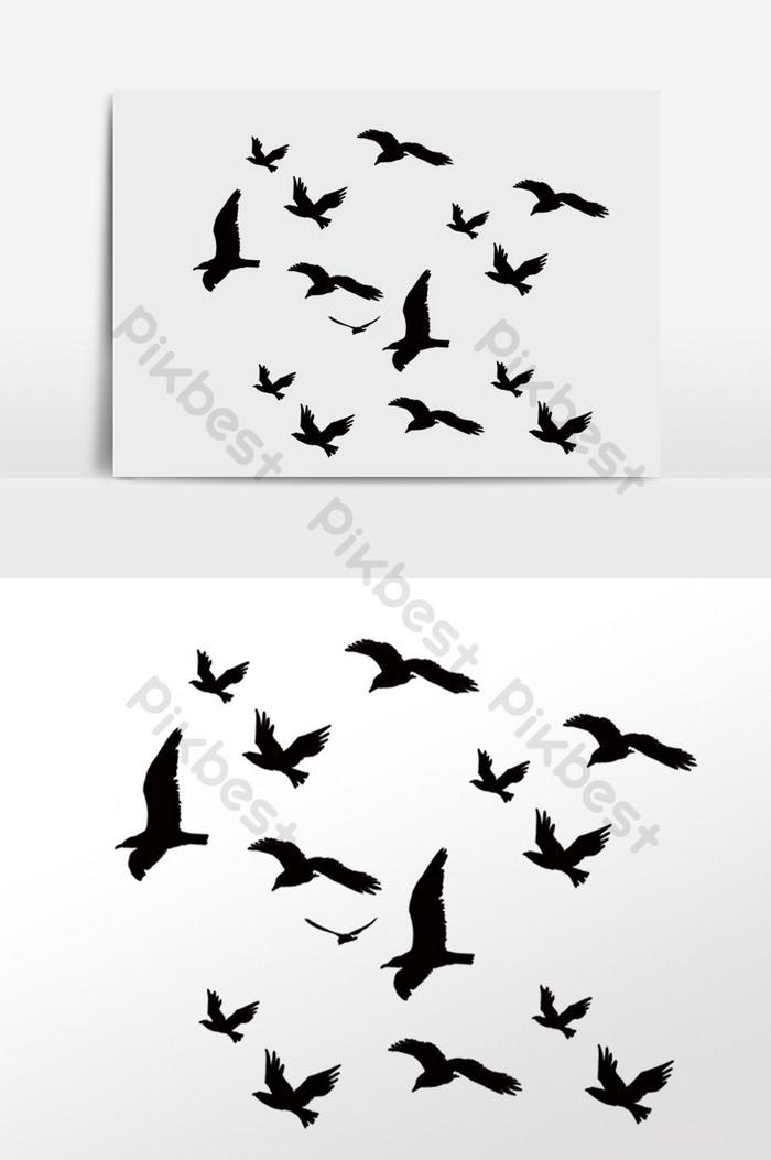 مرسومة باليد الطيور تحلق في السماء مثلا صور Png Psd تحميل مجاني Pikbest