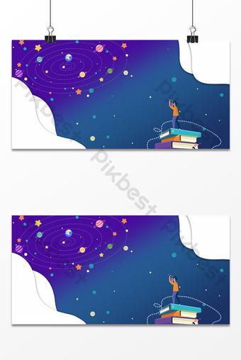 Cartoon school season winter vacation class enrollment training education background Backgrounds Template PSD