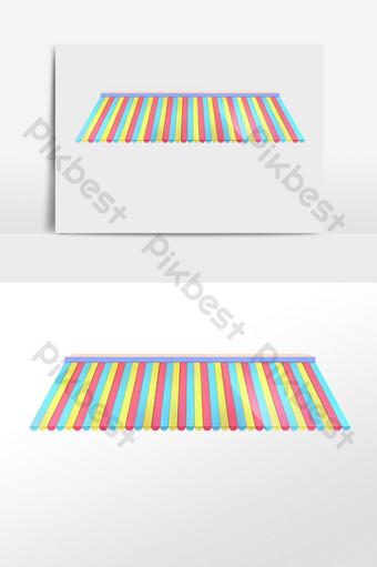 彩色的屋簷屋頂 元素 模板 PSD