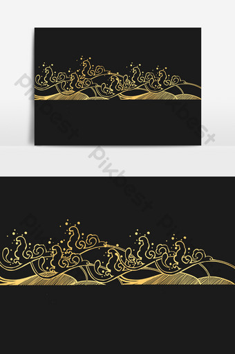 Wave ocean wave sea ripple shading PNG Images Template PSD
