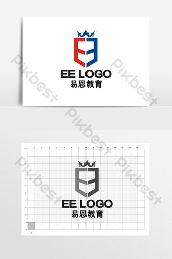 escudo de estilo británico corona educación logo vi Modelo CDR