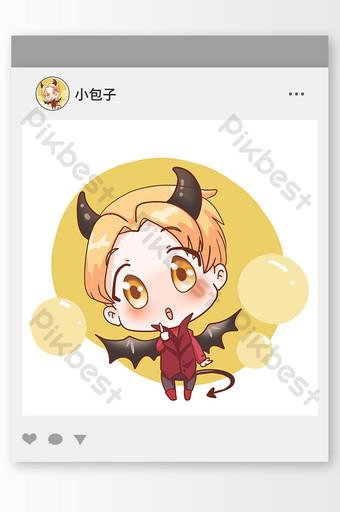 avatar de villano elfo demonio de dibujos animados Modelo PSD