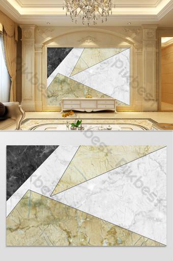 حديث بسيط فاخر أبيض وأسود نمط الحجر الرمادي المعلق بلاطة الديكور والنموذج قالب PSD