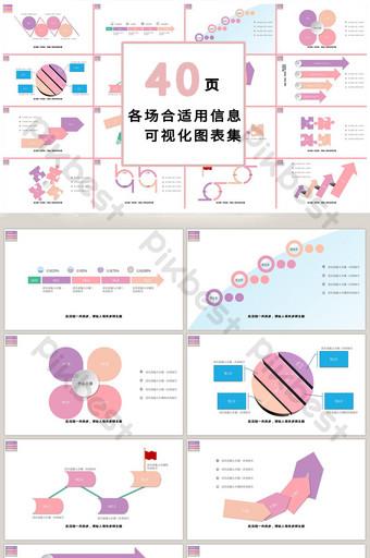 炫彩炫彩商務40頁ppt模板 PowerPoint 模板 PPTX