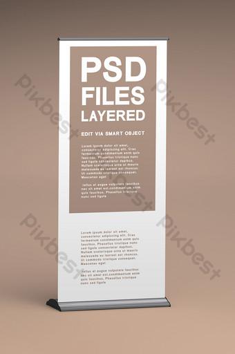 enrollar banner x fondo cambiar de color arbitrariamente diseño de cartel enrollar maqueta de soporte Modelo PSD