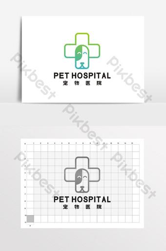 hospital de mascotas cachorro tienda de mascotas suministros logo vi Modelo CDR