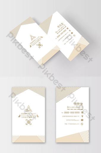 Carte de visite de société de conception d'architecte de lignes simples de couleur claire Modèle PSD