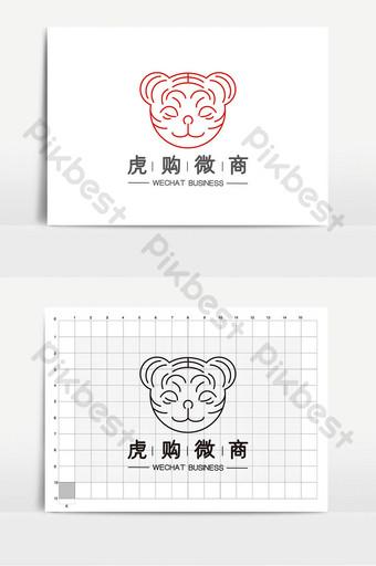 logotipo de microempresa de comercio electrónico gráfico de tigre simple de moda Modelo AI
