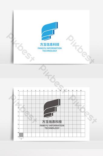 logo teknologi informasi fangyu dinamis Templat AI