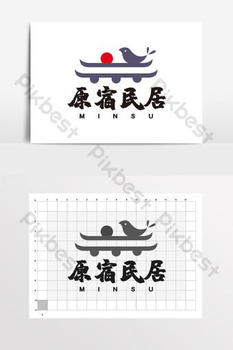 techo clásico estilo chino homestay logo vi Modelo CDR