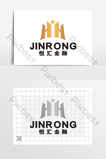 Financial management investment securities H building logo VI Template CDR