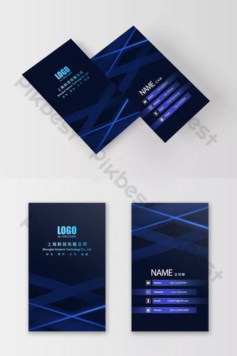 التكنولوجيا الزرقاء التدرج الرقمي شركة بطاقة الأعمال قالب PSD
