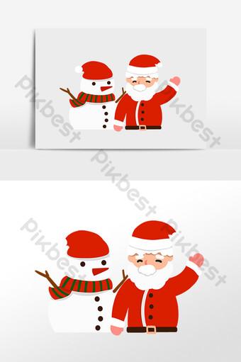 fotografía de muñeco de nieve de santa claus y navidad Elementos graficos Modelo PSD