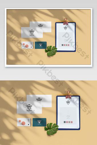 Maquette de carte d'enveloppe de dossier chaude et exquise Modèle PSD