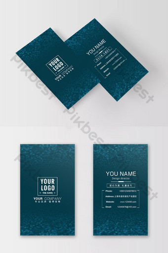 بطاقة عمل شركة تقنية رقمية فلاش زرقاء قالب PSD