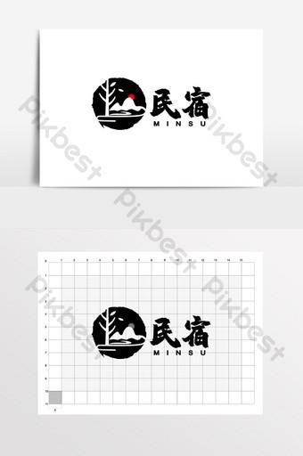 Casa de familia Restaurante estilo granja de estilo chino logo VI Modelo CDR