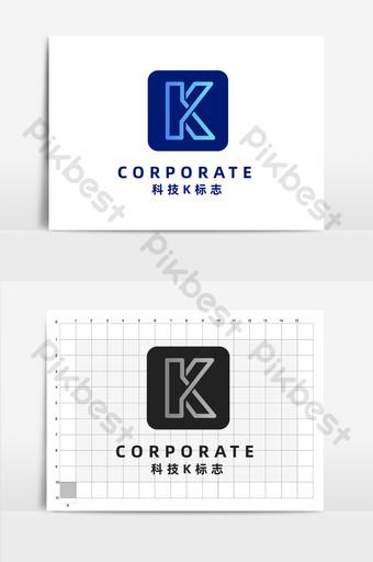 Tecnología internet negocio simple letra k logo Modelo AI