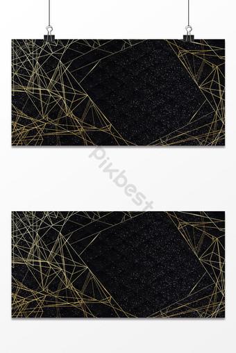 簡單線條豪華黑金紋理背景 背景 模板 PSD