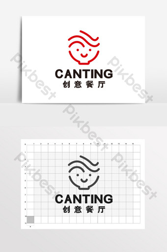 Tiệmì sáng tạo nhà hàng thức ăn nhanh phương Tây logo VI Bản mẫu CDR