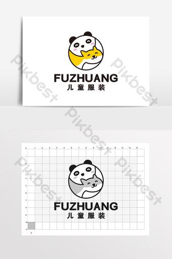 Ropa para niños Logotipo de tienda de mascotas de dibujos animados lindo VI Modelo CDR
