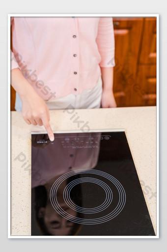 جديد شابة نقطة اليد التعريفي طباخ صورة التصوير التصوير قالب JPG