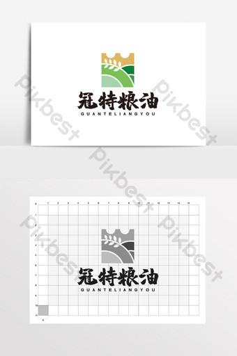 corona de grano y campo de aceite arroz trigo logo vi Modelo CDR