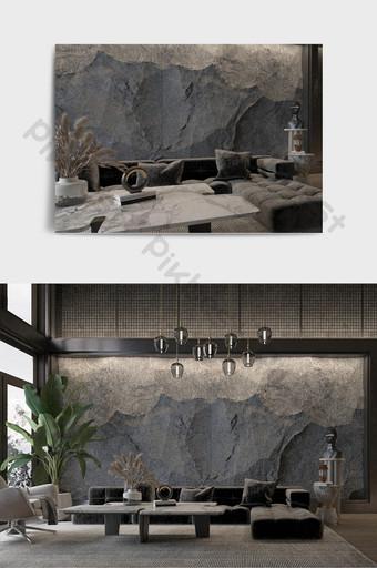 الاداءات غرفة المعيشة النمط الصناعي الحديث الديكور والنموذج قالب MAX