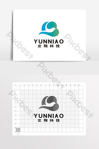 Yunke Technology Internet Electronic Digital Logo Signo VI Modelo CDR