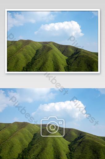 高山草地風景武通山 攝影圖 模板 JPG