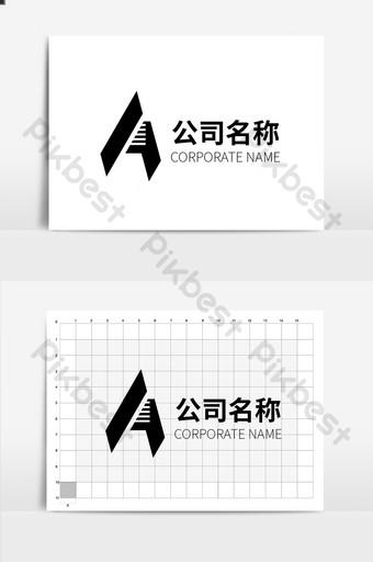 negocio atmosférico simple un logo de carta Modelo AI
