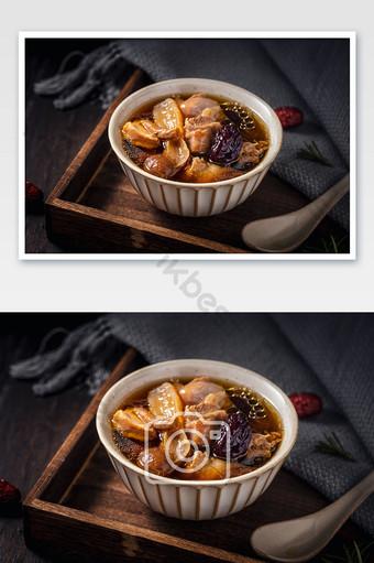 傳統食物雞湯紅色棗 攝影圖 模板 JPG