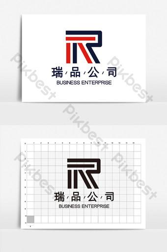 Moda atmosférica Simple R Carta Clase Logovi logo Modelo AI