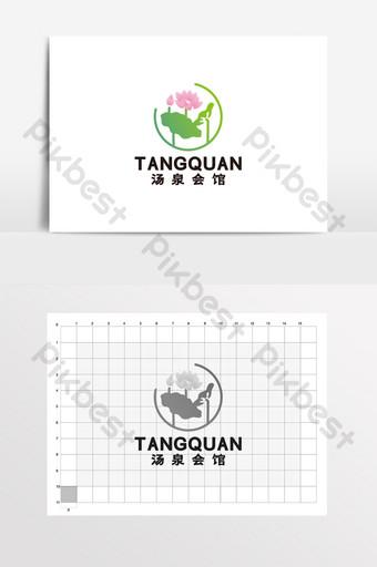 Tangquan Homestay Spa Hall Leisure Logo Signo VI Modelo CDR