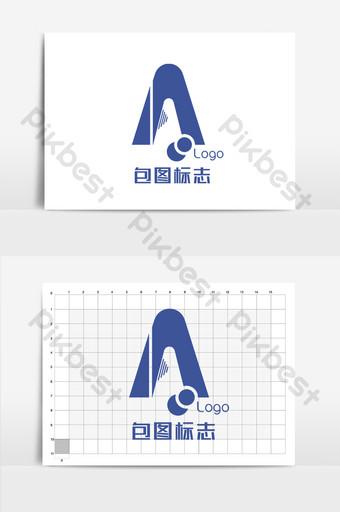 Letras simples de ciencia y tecnología un logo. Modelo AI