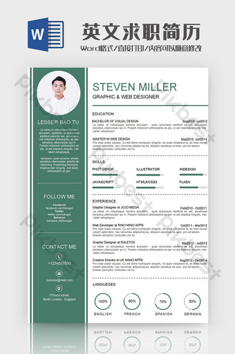 Simple English Job Results Word Template Word Template DOC