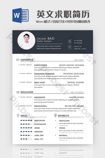 English Job Results Word Template Word Template DOC
